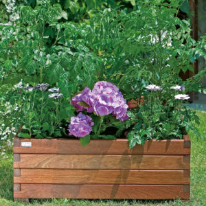 jardinera de madera rustic grande