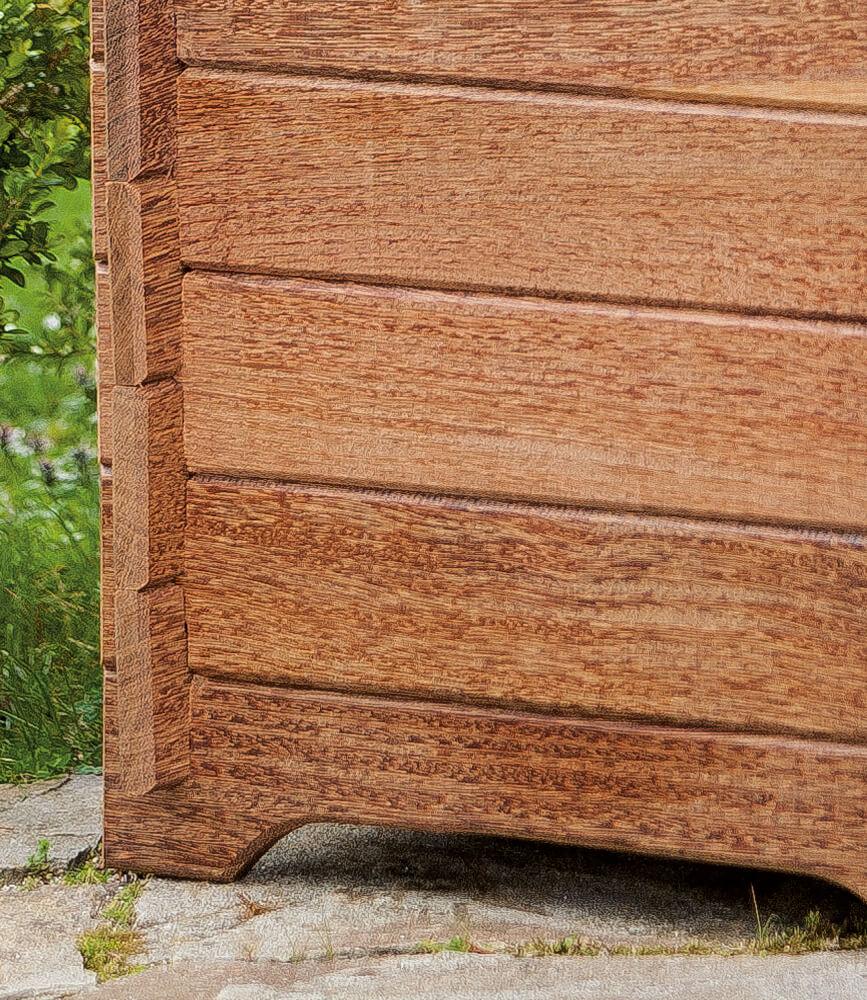 jardinera de madera cross grande