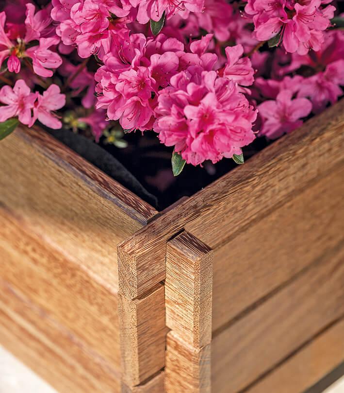 jardinera de madera cross pequeña