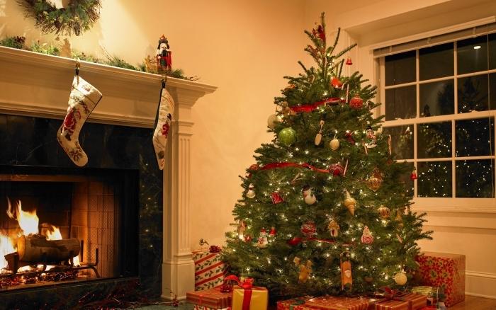 Arbol Navidad Macetero madera